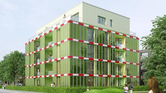 В Германии построили экологический дом из водорослей