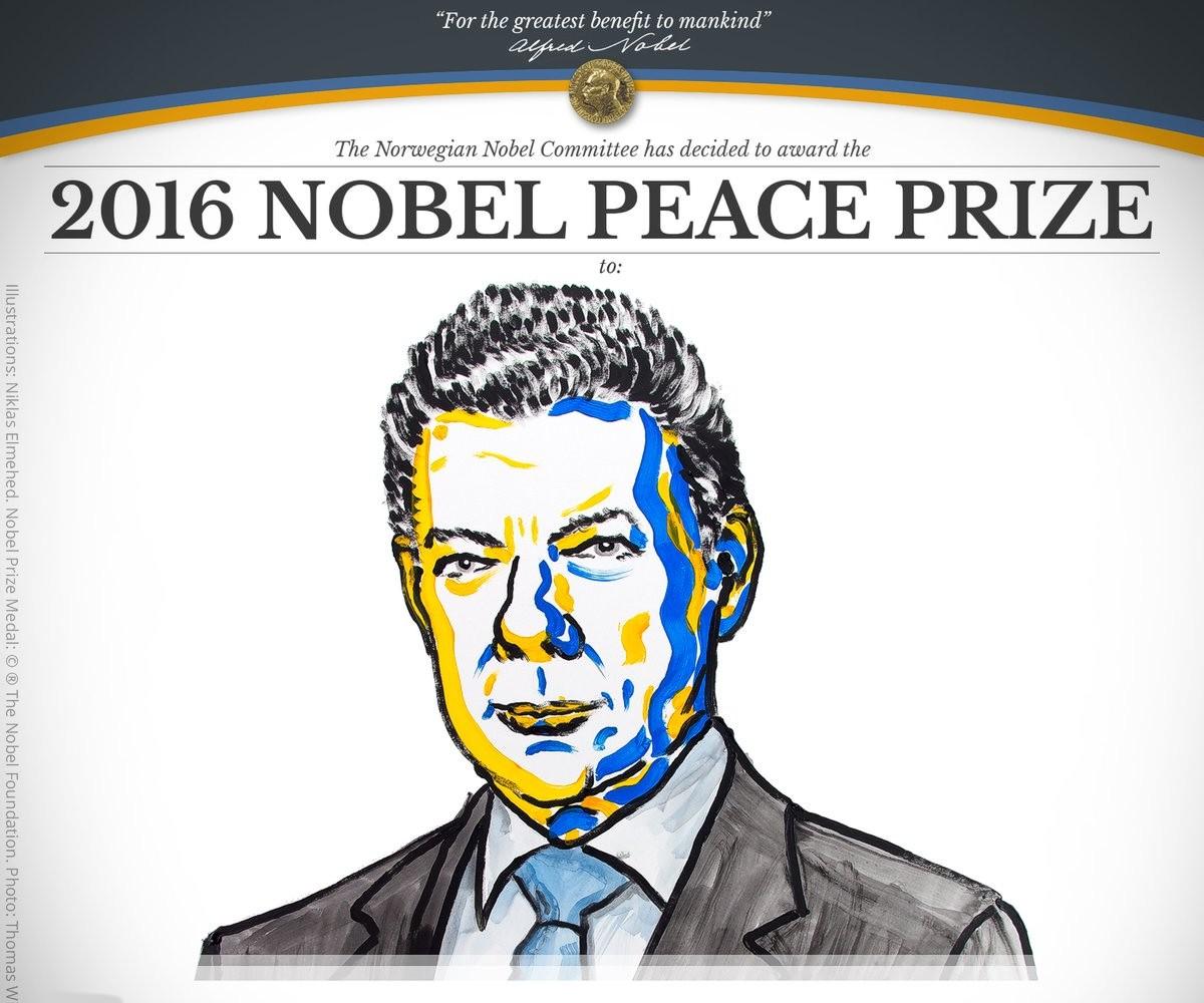 Президент Колумбии стал лауреатом Нобелевской премии