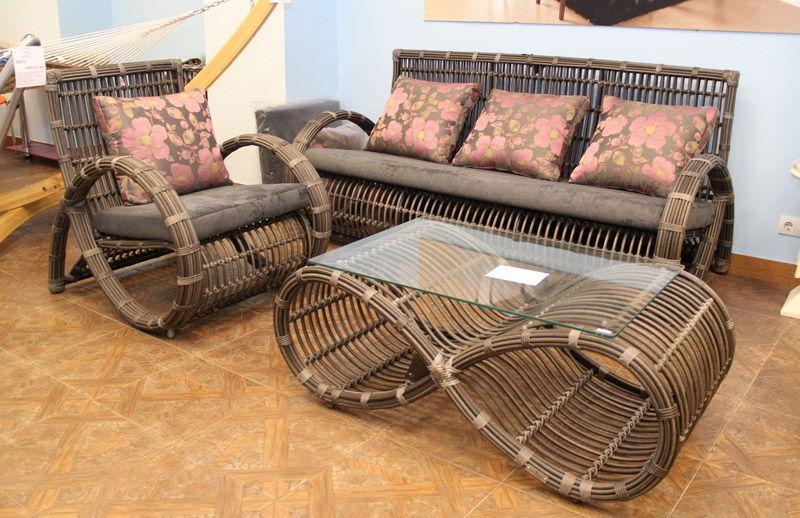Мебель из ротанга для загородного дома