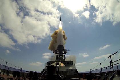 Появилось видео запуска крылатых ракет «Калибр» попозициям ИГ* вСирии