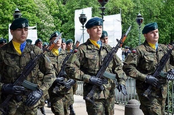 Польские военные проявили солидарность с Украиной