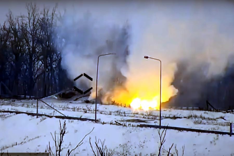 Уничтожение ДЗОТа российско-оккупационных войск