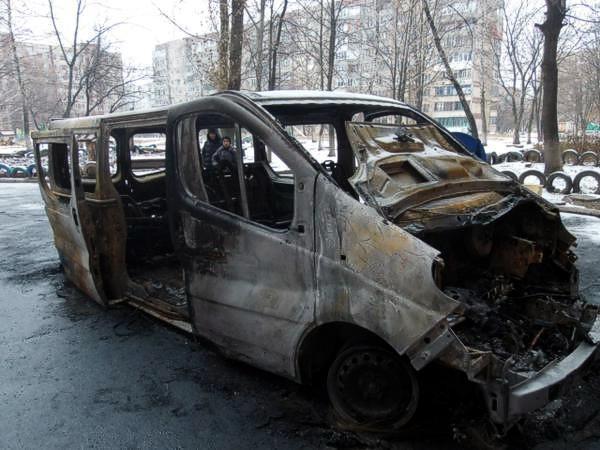 В Макеевке партизаны взорвали автобус террористов