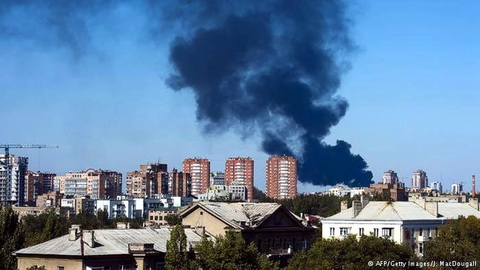 Центр Донецка снова обстреляли
