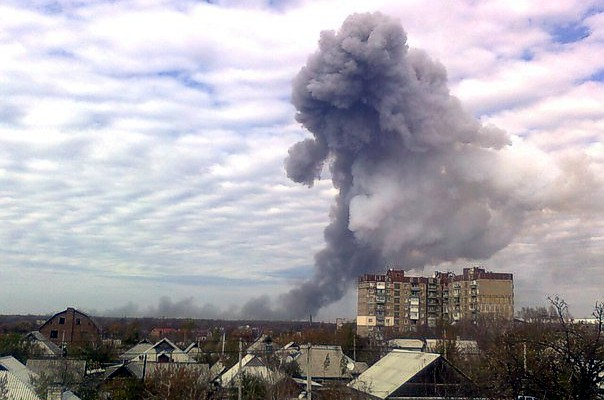 В Донецке в районе химзавода произошел мощный взрыв