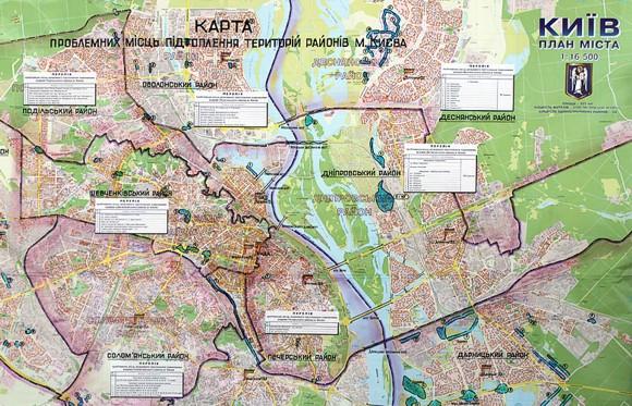 В Киеве определены места возможных подтоплений