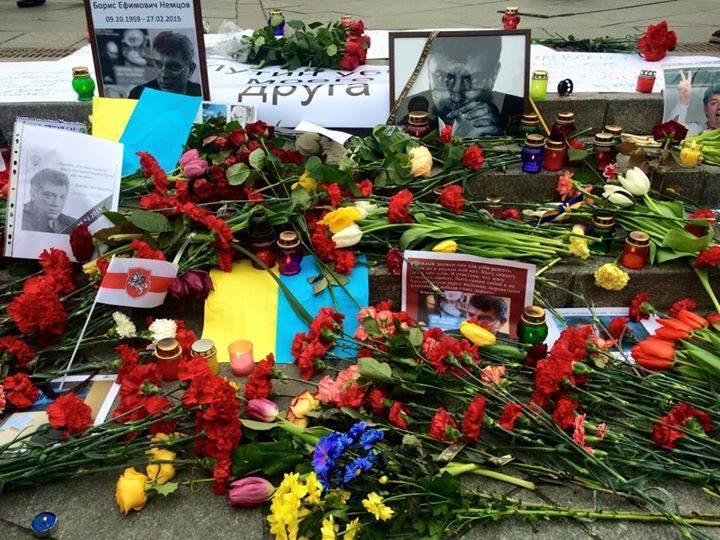 В Киеве проходит акция памяти убитого Бориса Немцова