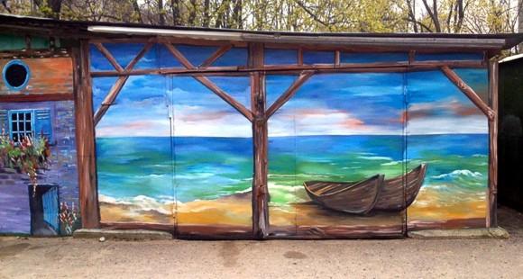 В Одессе художники разукрасили старые сараи — теперь это достопримечательность города