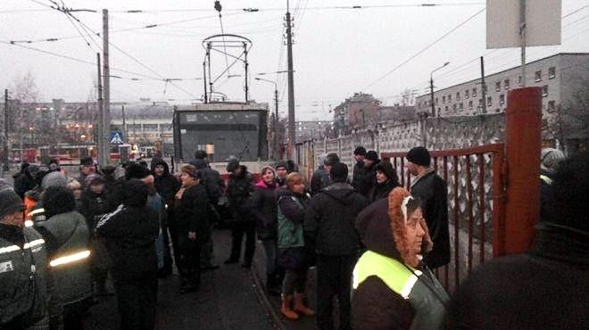 На маршруты Киева из-за забастовки не выехали трамваи трех депо
