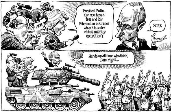 Крымский «референдум» в карикатурах