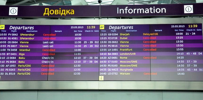 На табло в аэропортах Украины оставят только украинский и английский языки
