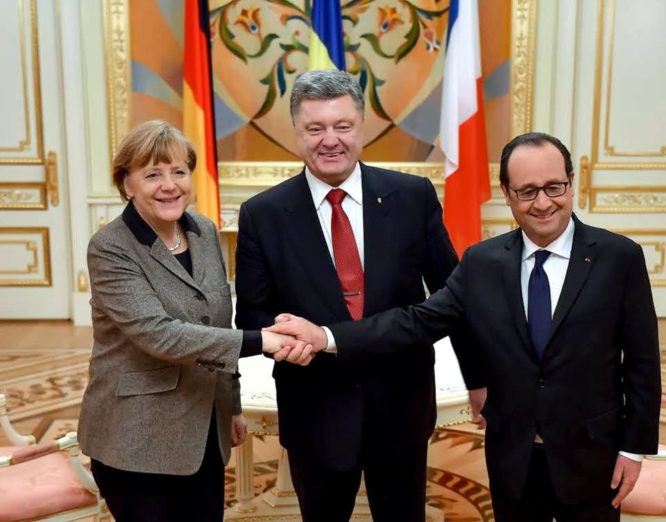 Порошенко, Меркель и Олланд отменили выход к прессе после встречи