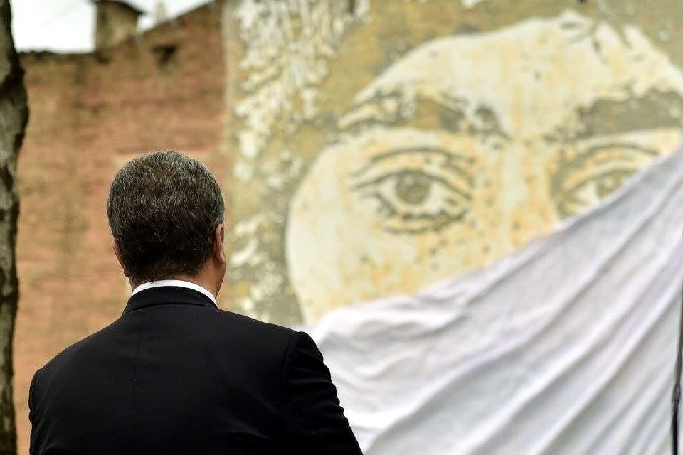 Порошенко посетил церемонию открытия фрески Нигояну