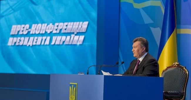 Итоговая пресс-конференция президента Украины состоялась: Янукович ответил на 17 вопросов журналистов