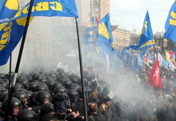 Милиция призналась, что под Киеврадой применила слезоточивый газ