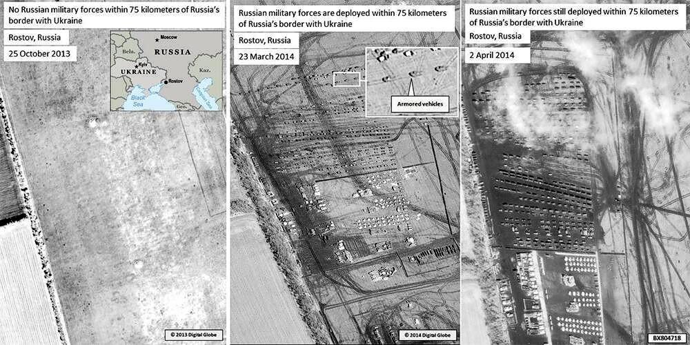 США опубликовали снимки Вооруженных Сил России у границ с Украиной