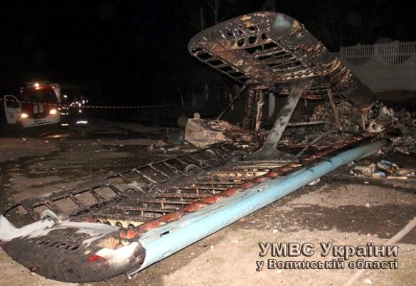 Появились фото самолета, который разбился на Волыни