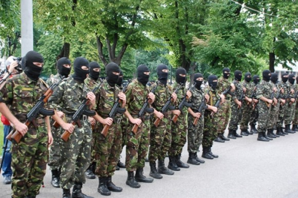 Донецкий спецбатальон «Шахтерск» отправляется в зону АТО