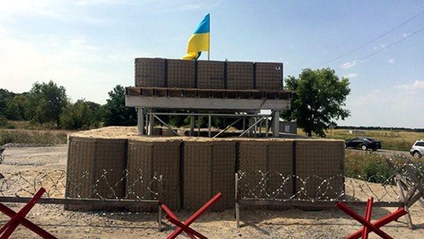На Днепропетровщине появились первые блокпосты по стандартам НАТО