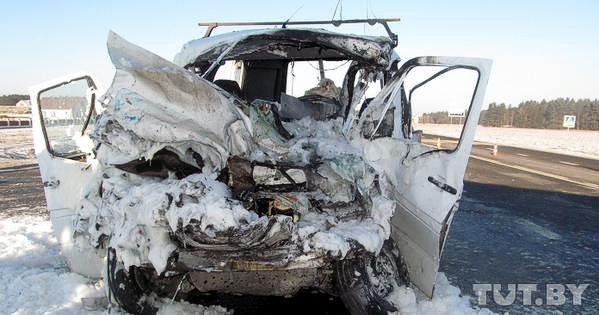 Трое украинцев погибли и еще девять травмированы в ДТП в Беларуси