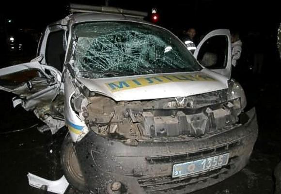В Харькове в ДТП с патрульной машиной пострадали 7 человек