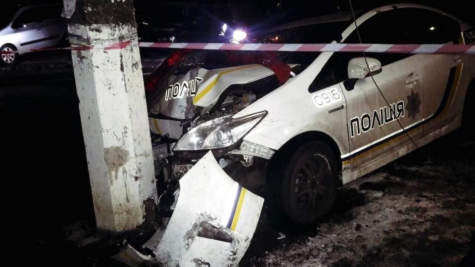 Обнародовано видео с места ночной погони со стрельбой в Киеве