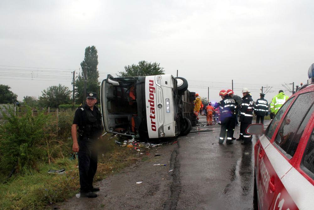 В автобусе, который разбился в Румынии, находились украинцы – МИД