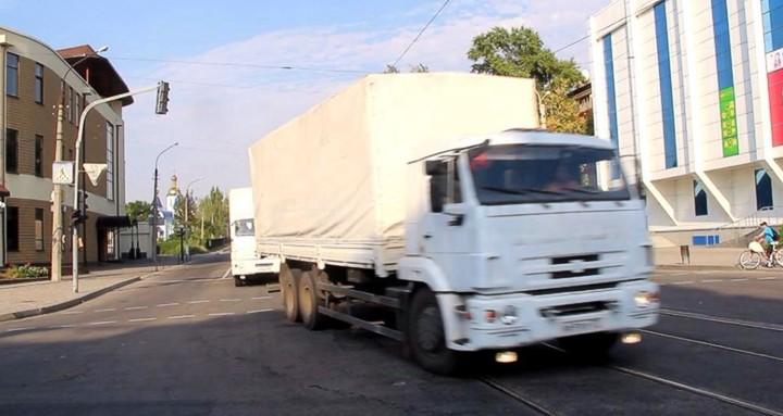 СНБО: КамАЗы «гумконвоя» вывозят в Россию оборудование военных заводов
