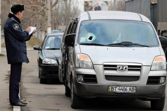В Херсоне напали на автобус с активистами Евромайдана, ехавшими в Киев
