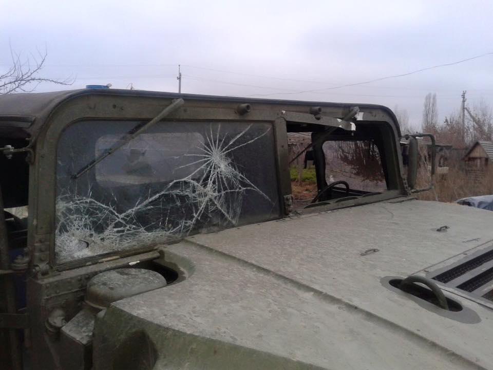 Обстрел мобильной группы на Луганщине: МВД показало фото последствий