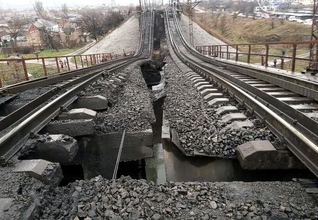 Подрыв железнодорожного моста в Мариуполе квалифицирован как теракт