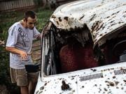 Террористы обстреляли из «Града» колонну беженцев