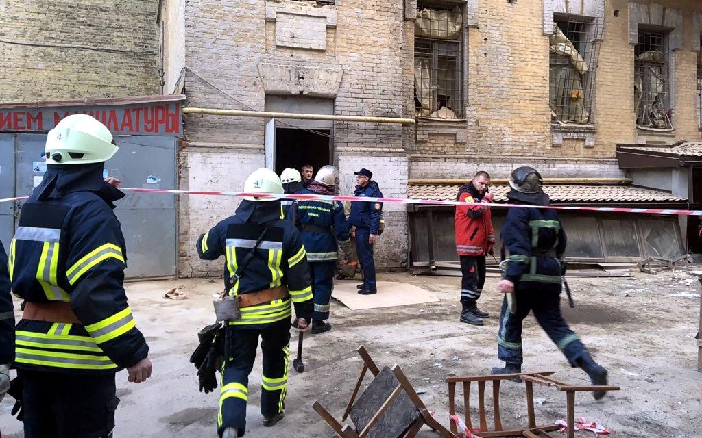 Полиция опубликовала видео с места обвала дома в центре Киева