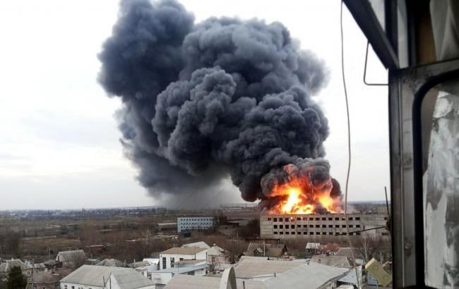 В Днепропетровской области произошел пожар на Механическом заводе