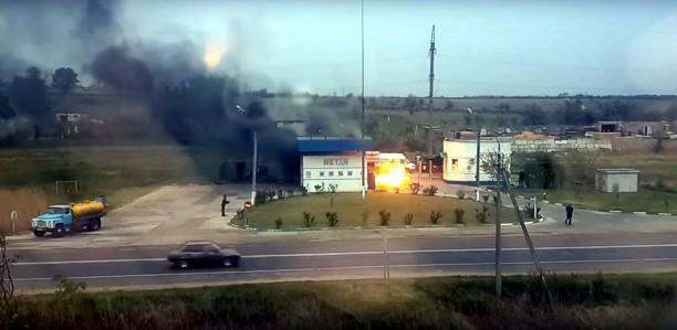 В оккупированном Джанкое загорелась газовая автозаправка