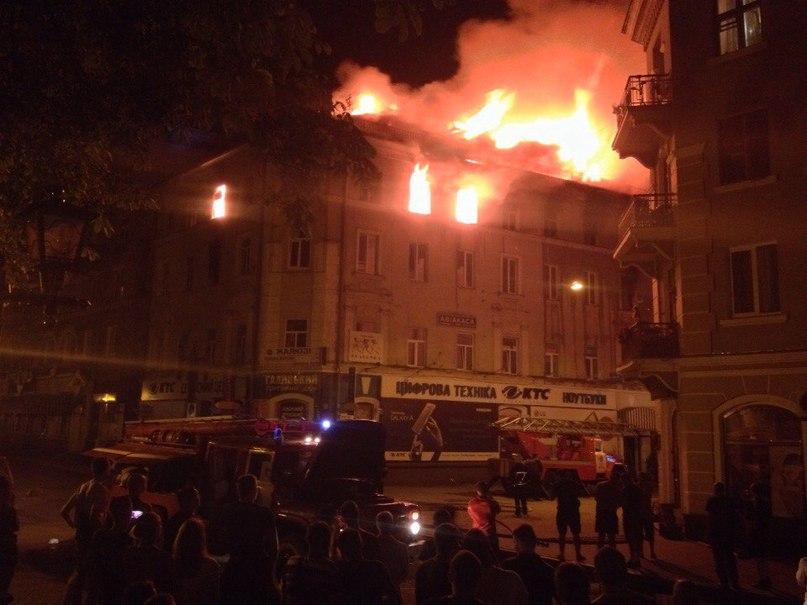В исторической части Тернополя произошел пожар