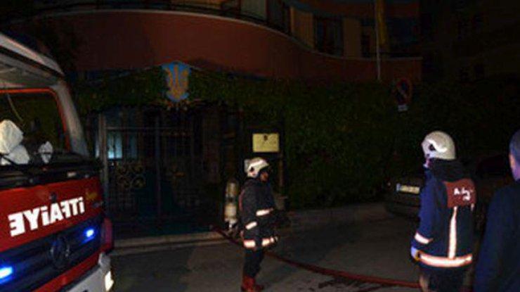 В столице Турции горело посольство Украины: Опубликованы фото и видео