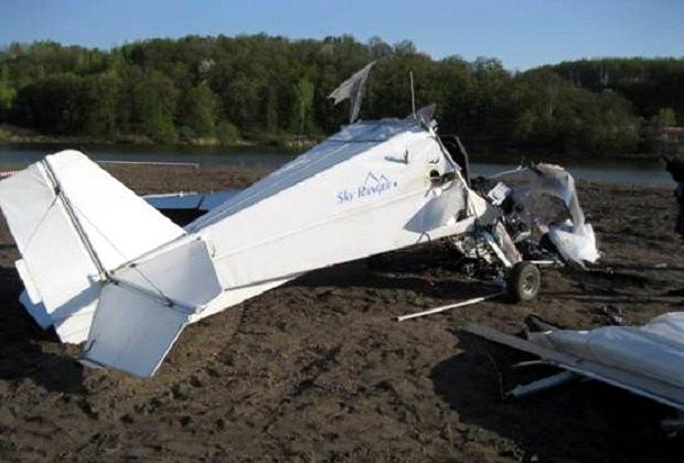 Под Киевом упал легкомоторный самолет: пилот в реанимации