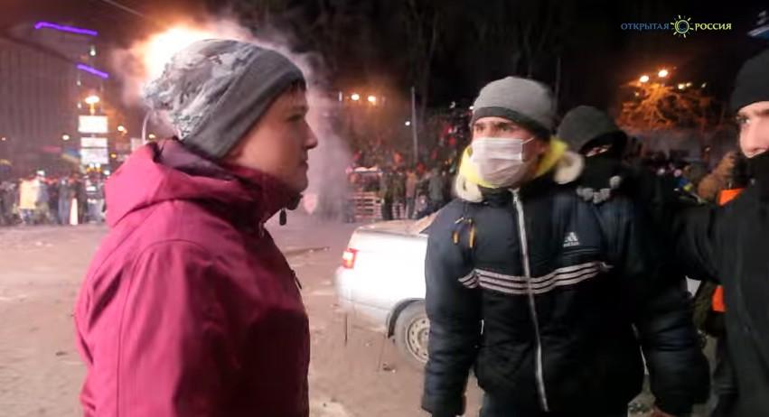 В сети появилось видео Савченко во время событий на Грушевского