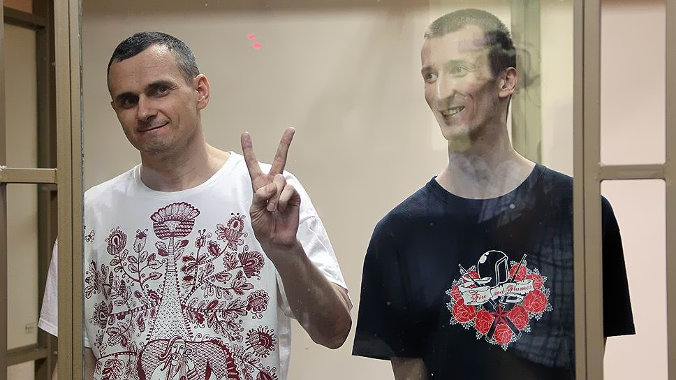 Приговор для Сенцова и Кольченко остался прежним: 20 и 10 лет тюрьмы