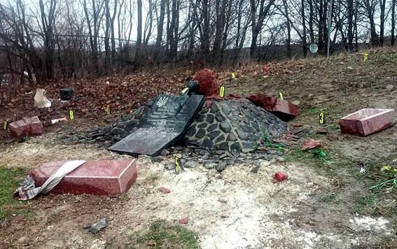 Под Ровно подорвали стелу на месте гибели Сашка Билого