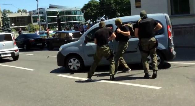 В центре Киева с погоней и стрельбой взяли организаторов конвертцентра