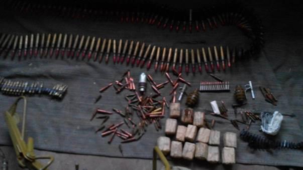 СБУ обнаружила в зоне АТО тайник с боеприпасами и военным имуществом
