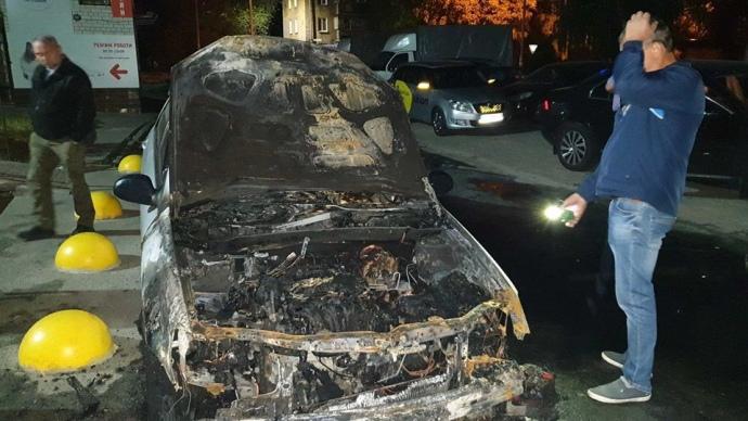 В Киеве сожгли автомобиль программы «Схемы»