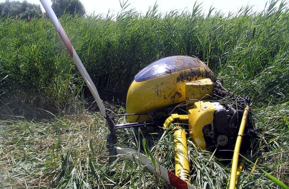 В Кременчуге упал вертолет: двое пострадавших