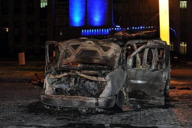 У здания Донецкой ОГА взорвался автомобиль: трое погибших