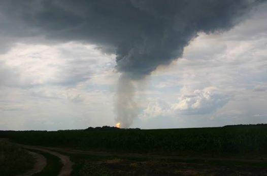 МВД: На газопроводе «Уренгой–Помары–Ужгород» в Полтавской области произошел взрыв