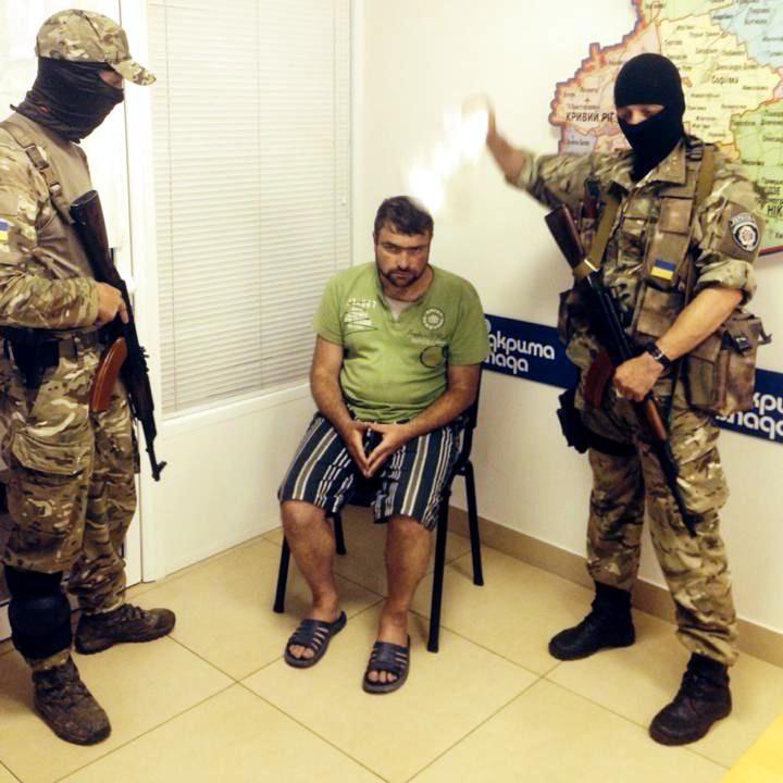 Бойцы батальона «Днепр» задержали «народного мэра» Алчевска
