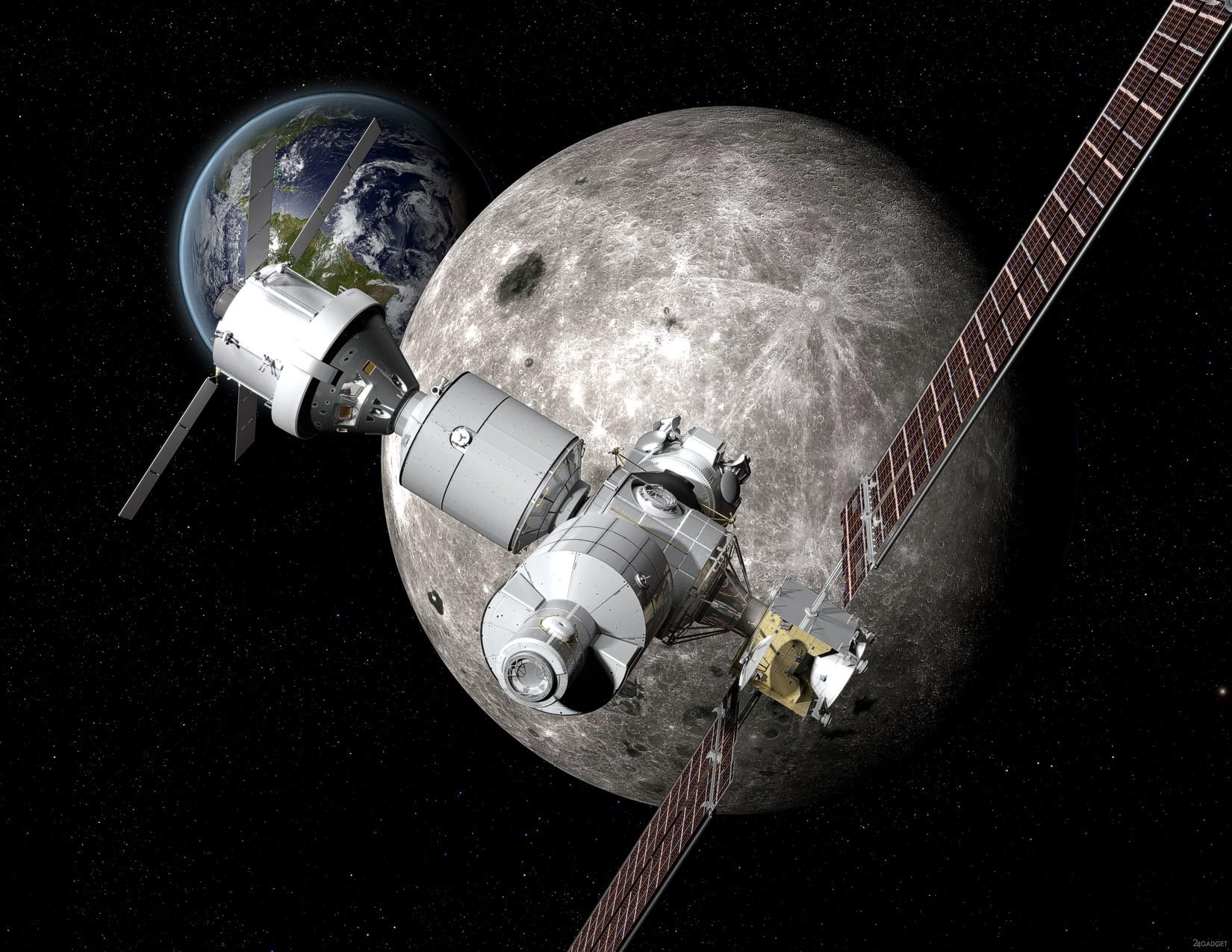 В 2020 году NASA запустит постоянную станцию на орбите Луны